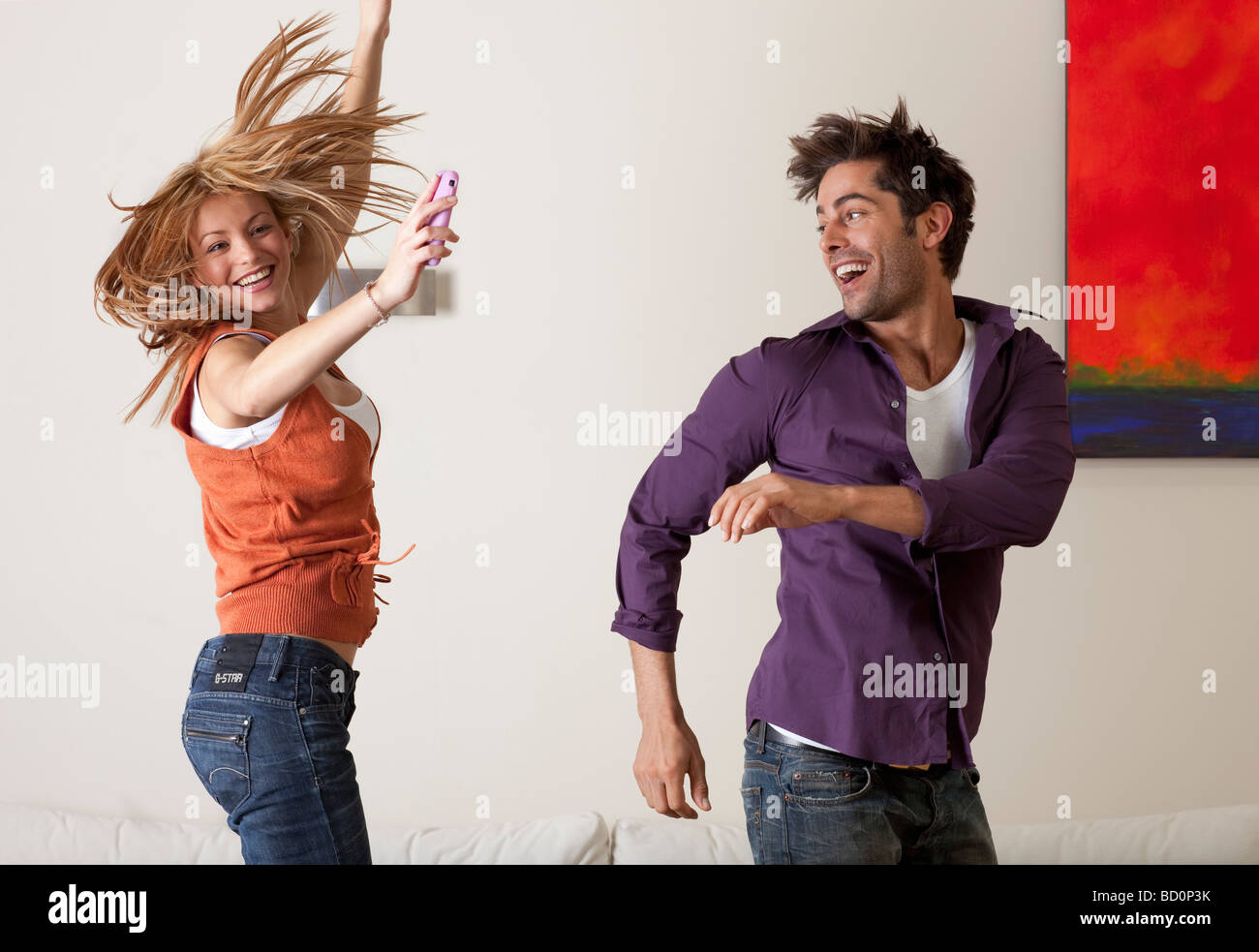 couple dancing - Stock Image
