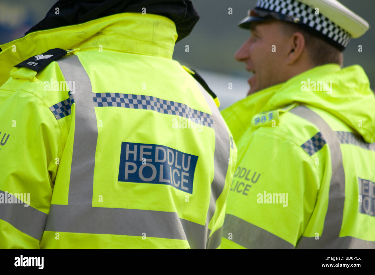 Traffic officers from Dyfed Powys Police - Stock Image