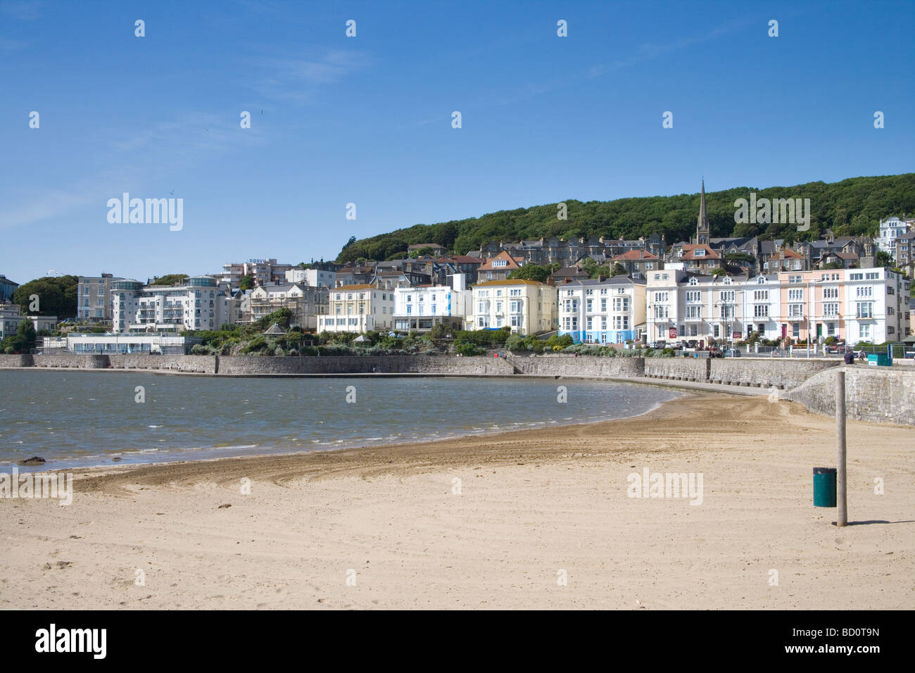 the large beach at Weston super mare  Somerset - Stock Image
