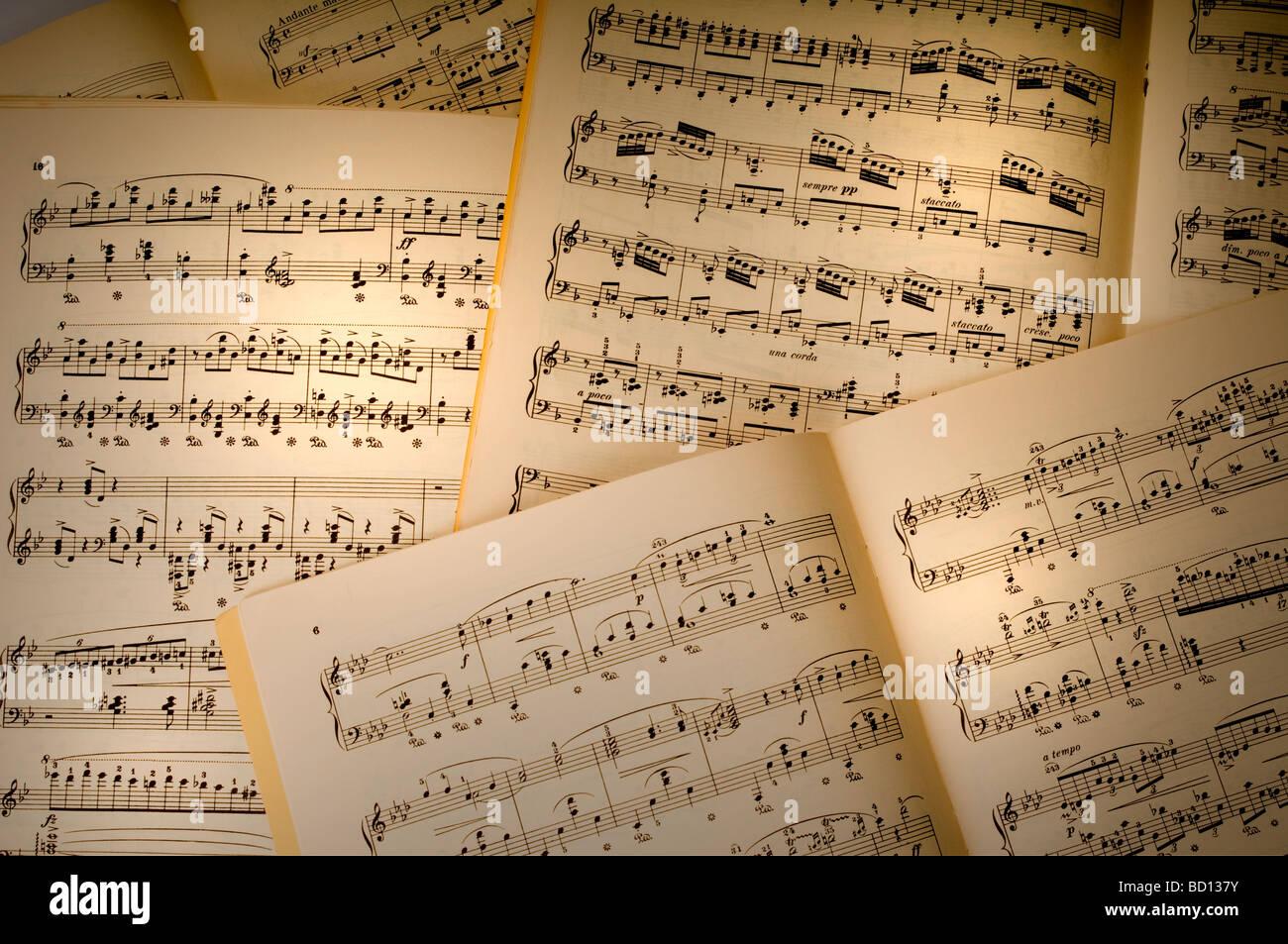variety of sheet music - Stock Image