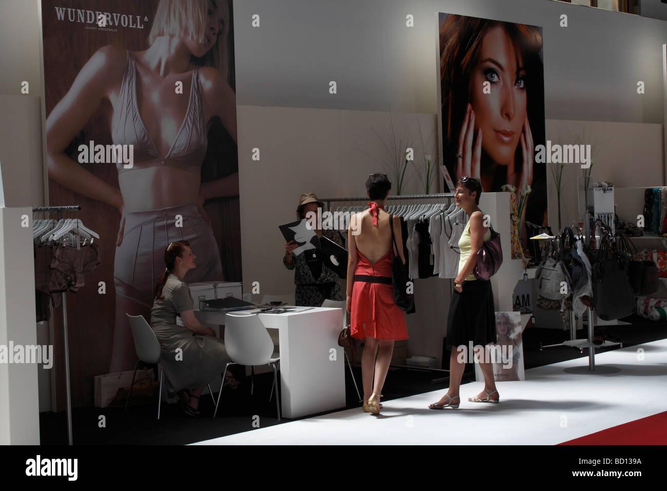 5 elements tradefair for intimate and nightwear in Berlin EU DE DEU FRG Germany capital Berlin The tradefair for - Stock Image