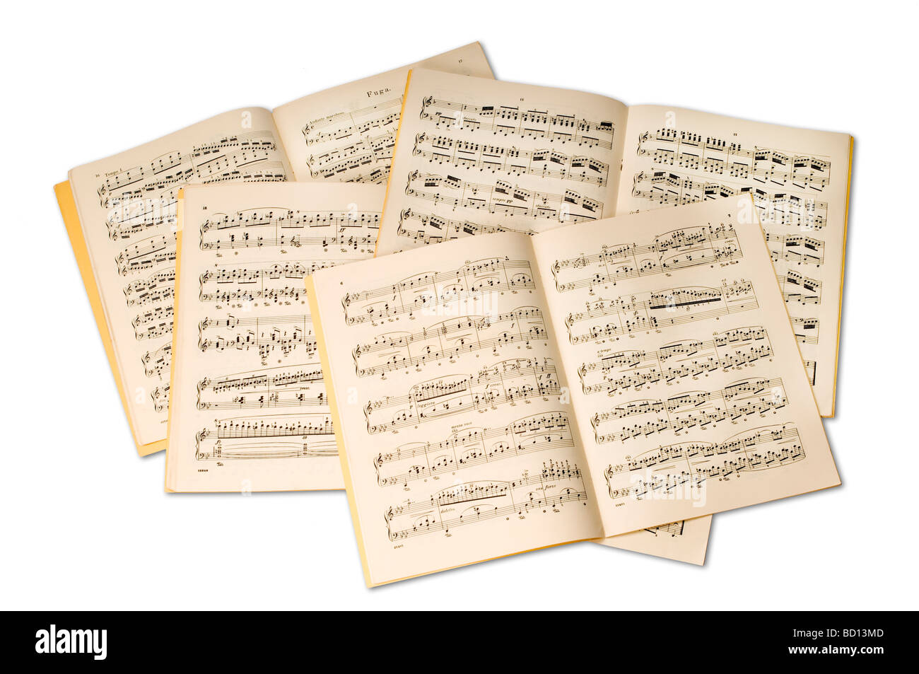 variety of sheet music - Stock Image