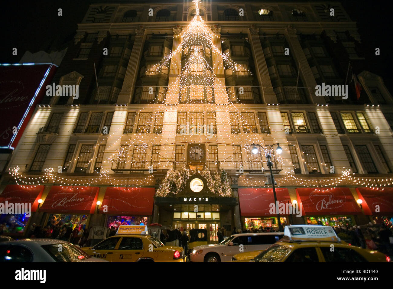 christmas decorations at macy s in herald square in new york city new york