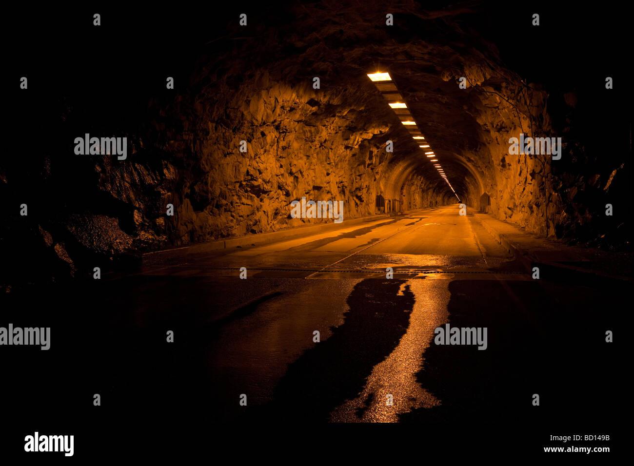 Wawona Tunnel at Springtime Dawn Yosemite National Park - Stock Image
