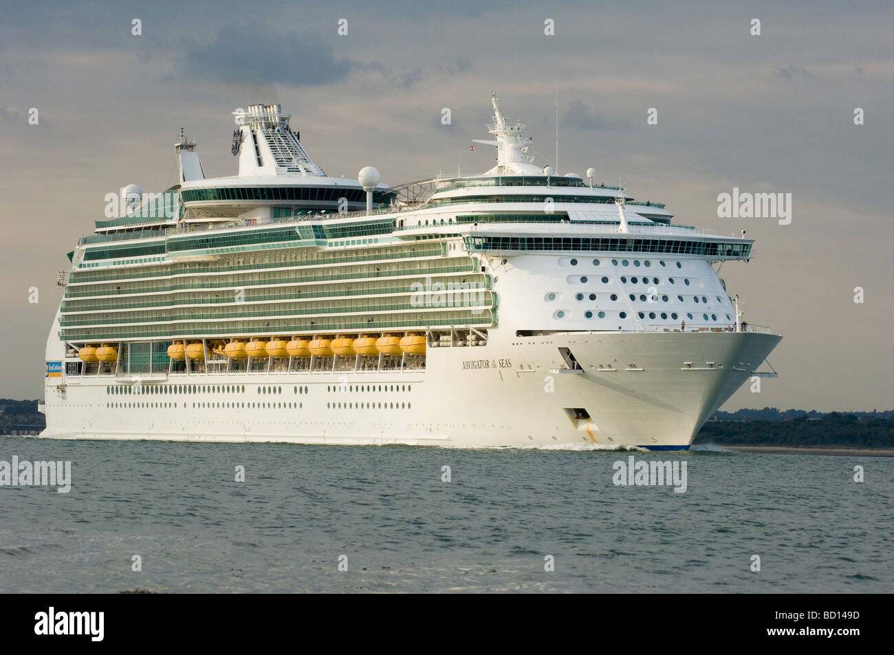 Royal Caribbean Cruise Liner  Navigator of the Seas, Southampton Water, Hampshire, England, UK Stock Photo