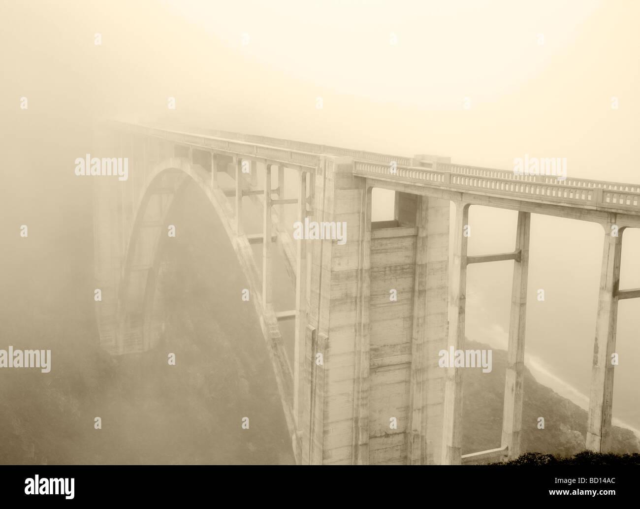 Bixby Creek Bridge Big Sur coast California - Stock Image