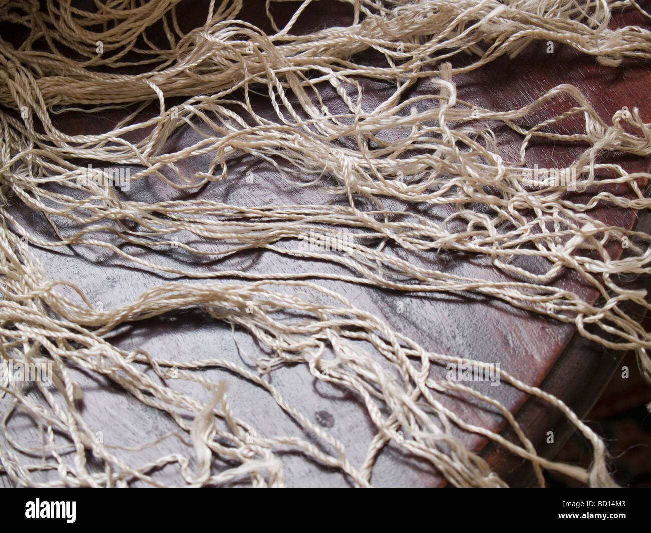 Jewish ritual objects Tallis or prayer shawl in museum in historic desert Synagogue in Tucson Arizona - Stock Image