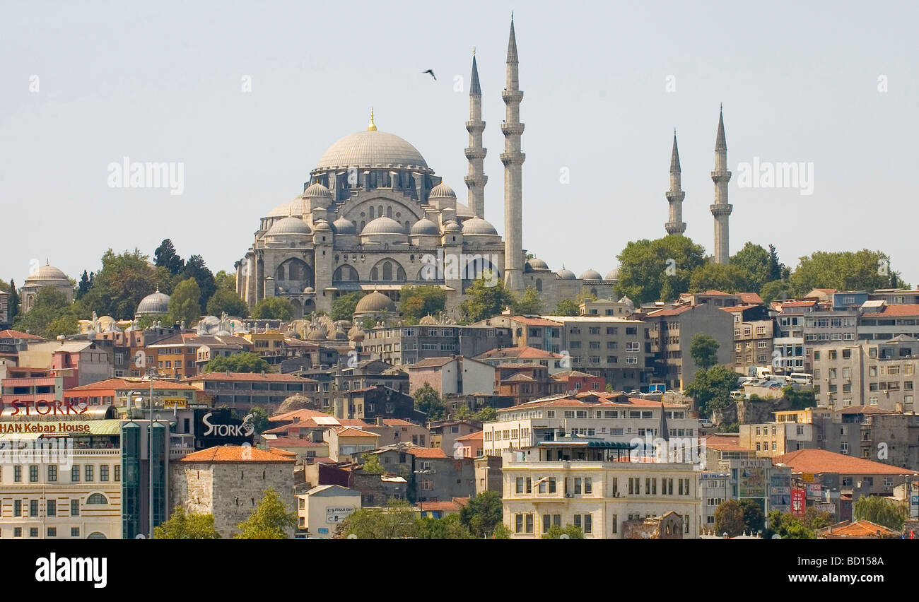 the city scape of Istanbul in Turkey - Stock Image