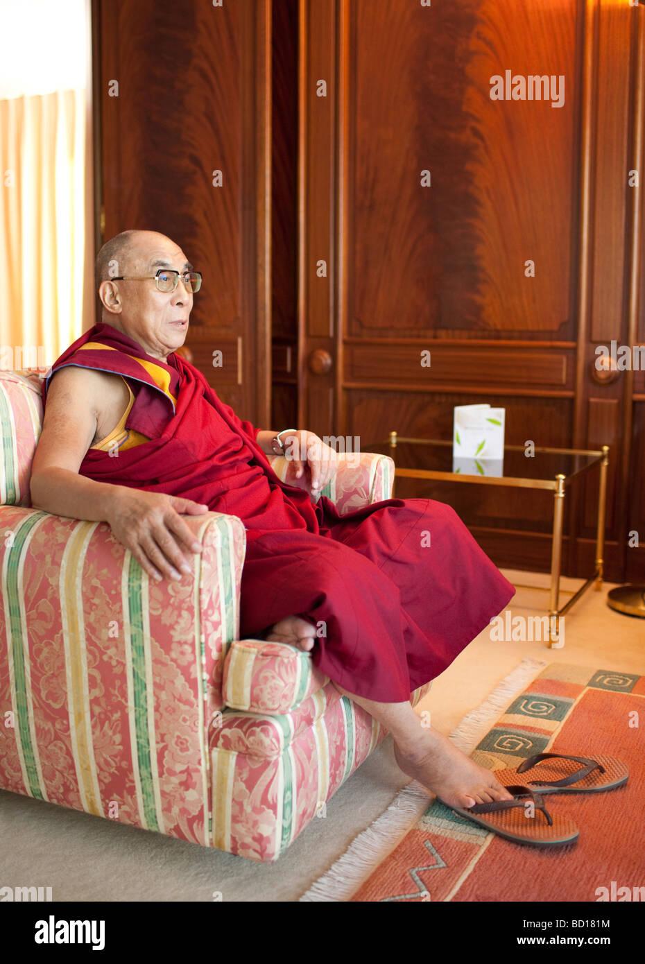 The 14th Dalai Lama Tenzin Gyatso - Stock Image