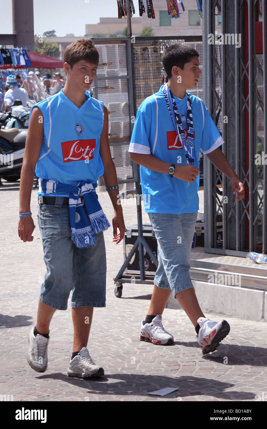 Napoli Football Club Fan Supporter at the Stadium Stock Photo