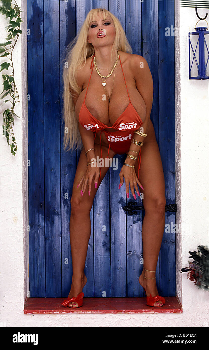 Lolo Ferrari French Porn Star Who Died In March 2000 Stock Photo Alamy