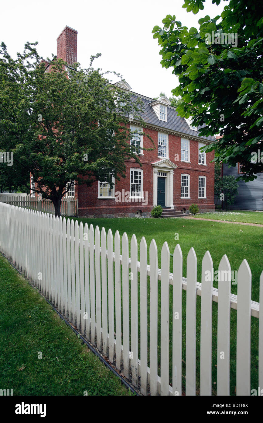Historic Derby House, 1762, Salem, Massachusetts - Stock Image