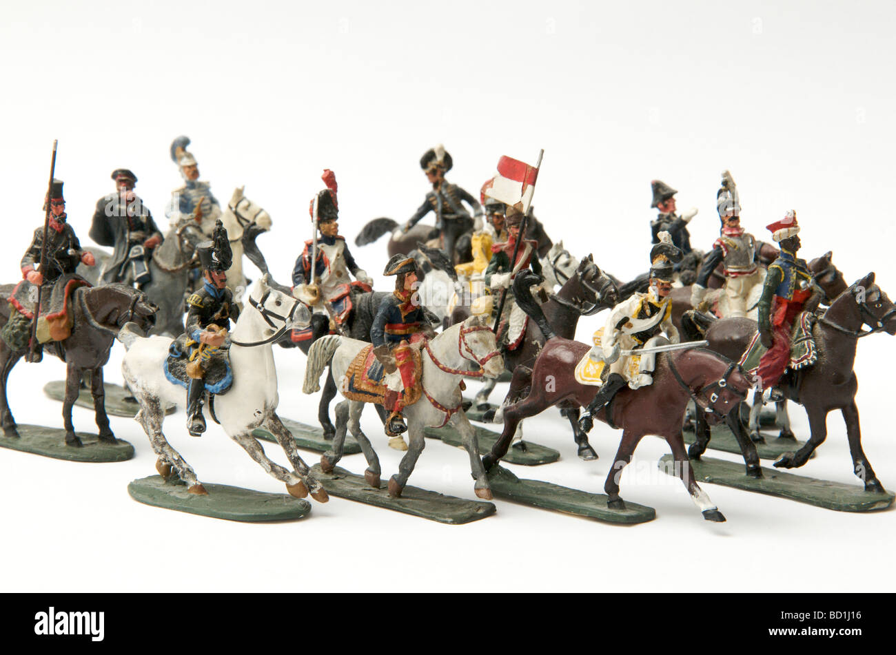 Toy soldiers of the Napoleon first Empire. - Stock Image