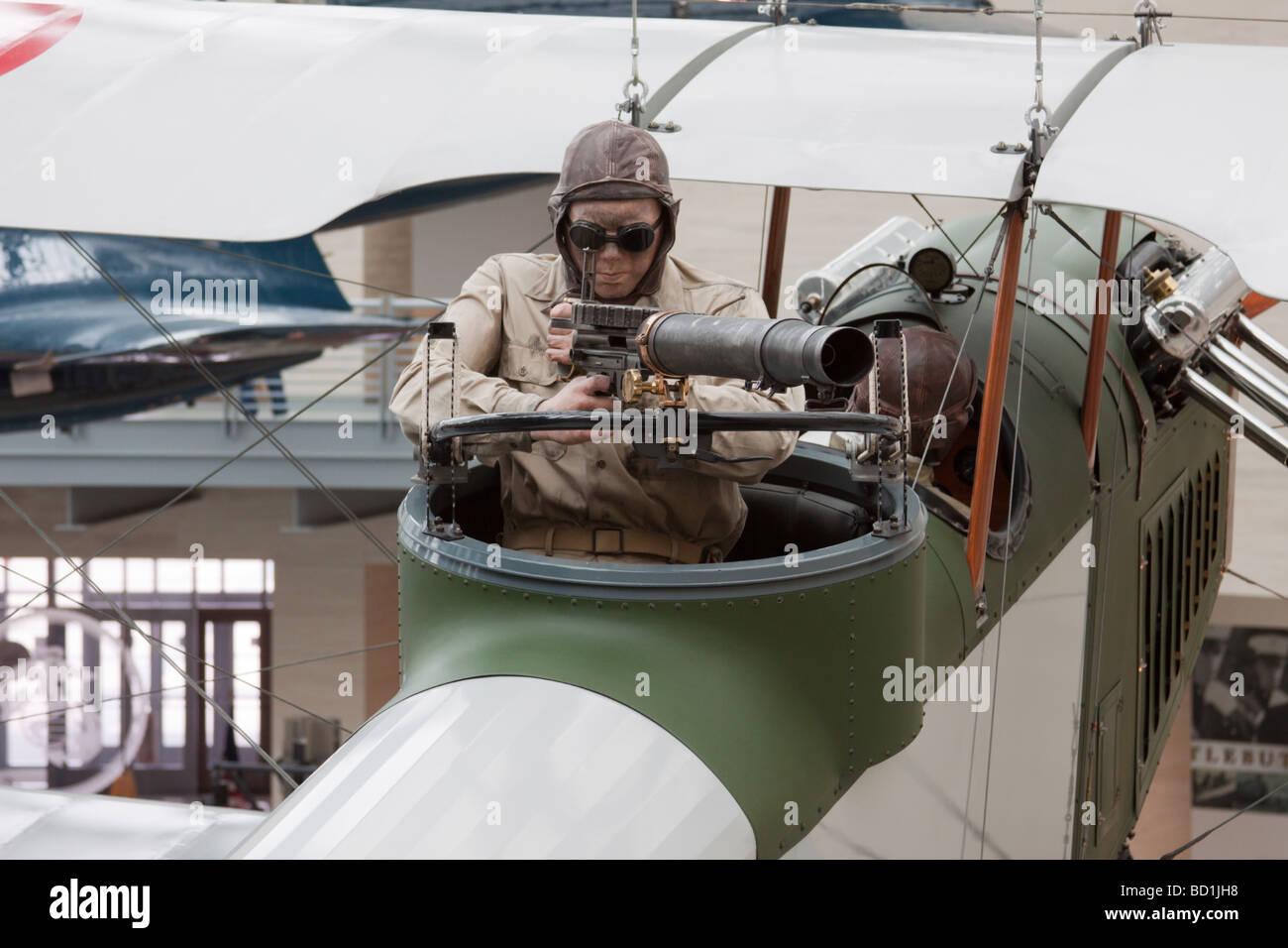 Aircraft exhibit at the US Marine Corps Museum, Quantico, Virginia, USA Stock Photo