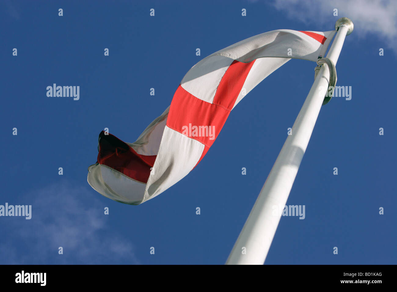 The flag of St George. Stock Photo