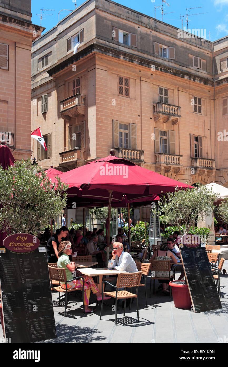 St John's Square, Valletta, Malta - Stock Image