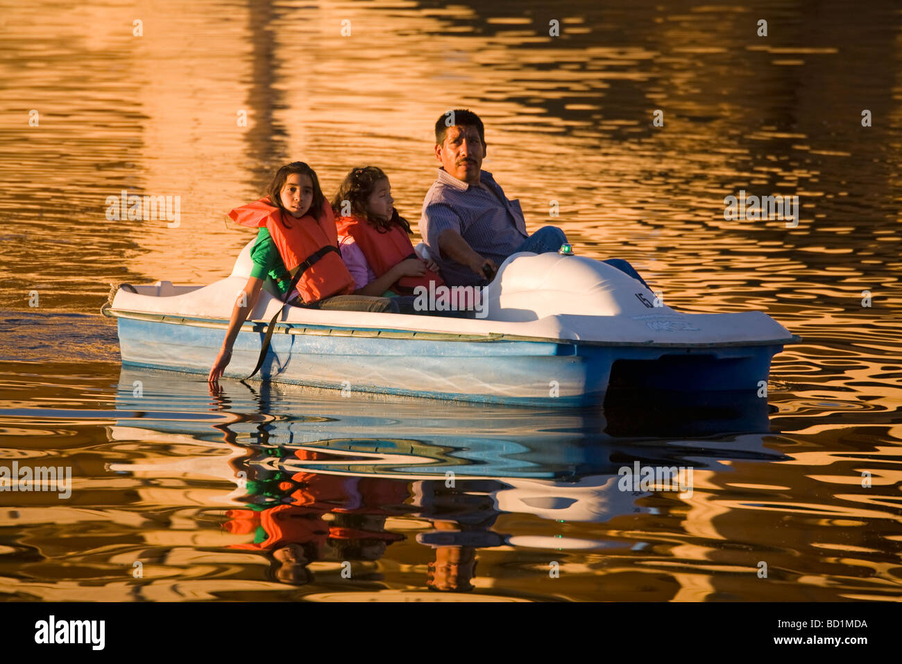 Boating on Town Lake Tempe Greater Phoenix Area Arizona USA - Stock Image