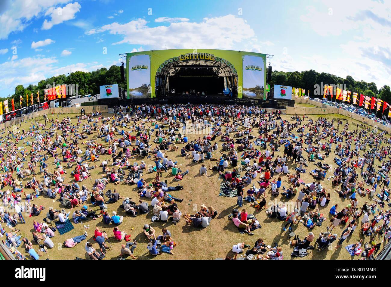 Latitude Music Festival Main Stage, Southwold, Suffolk, UK - Stock Image