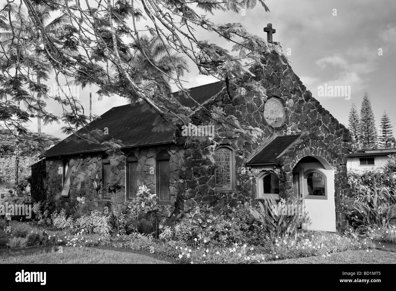 Christ Memorial Episcopal Church Kauai Hawaii - Stock Image