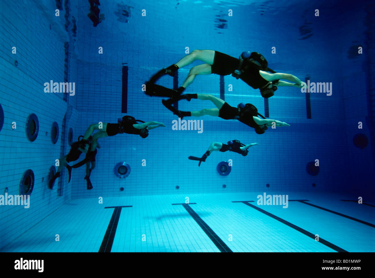 Soldiers of the German special forces 'Kampfschwimmerkompanie' exercise with oxygen rebreather units, Eckernfoerde, - Stock Image