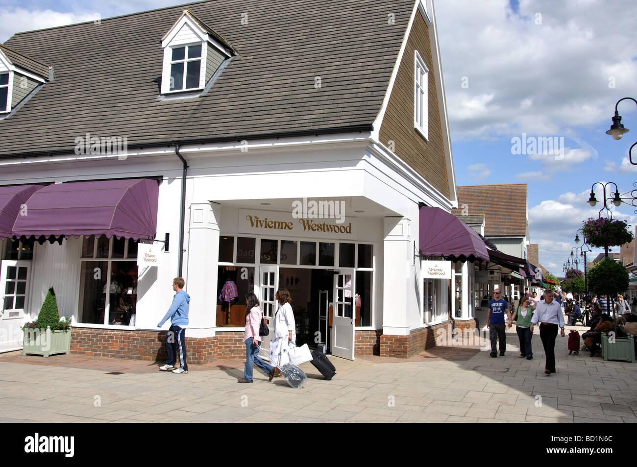 Vivienne Westwood store, Bicester Village Shopping Centre, Bicester, Oxfordshire, England, United Kingdom - Stock Image