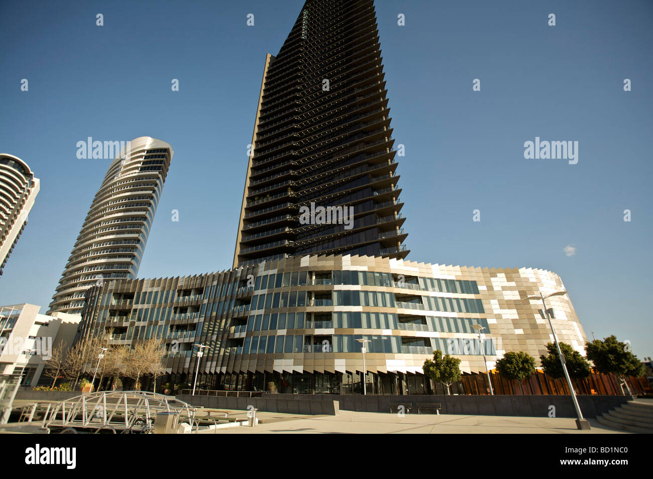 High rise at docklands Melbourne - Stock Image