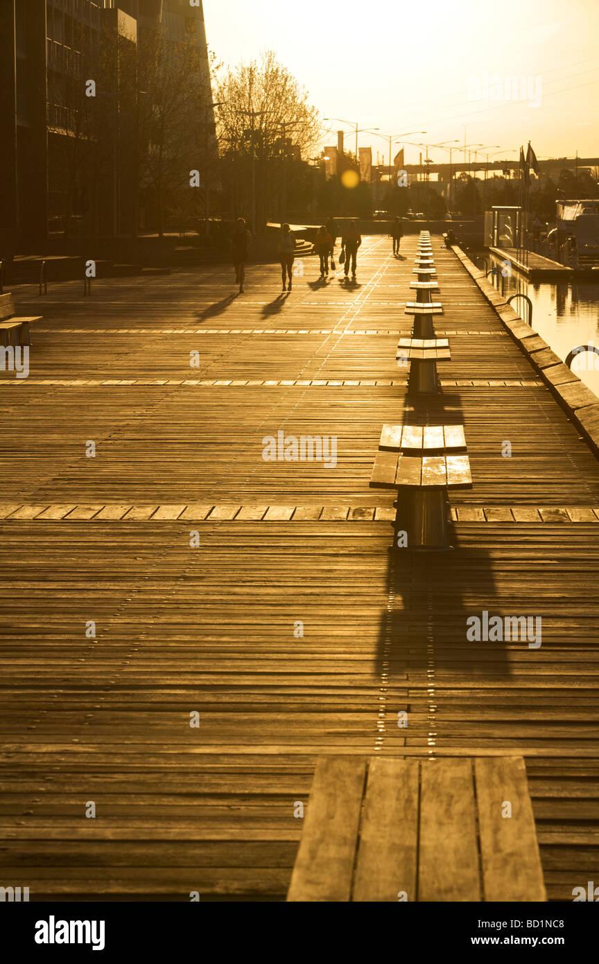 Seats at sunset - Stock Image