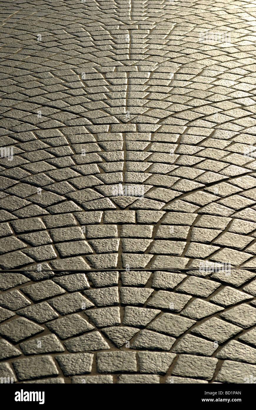 Cobble stone path - Stock Image