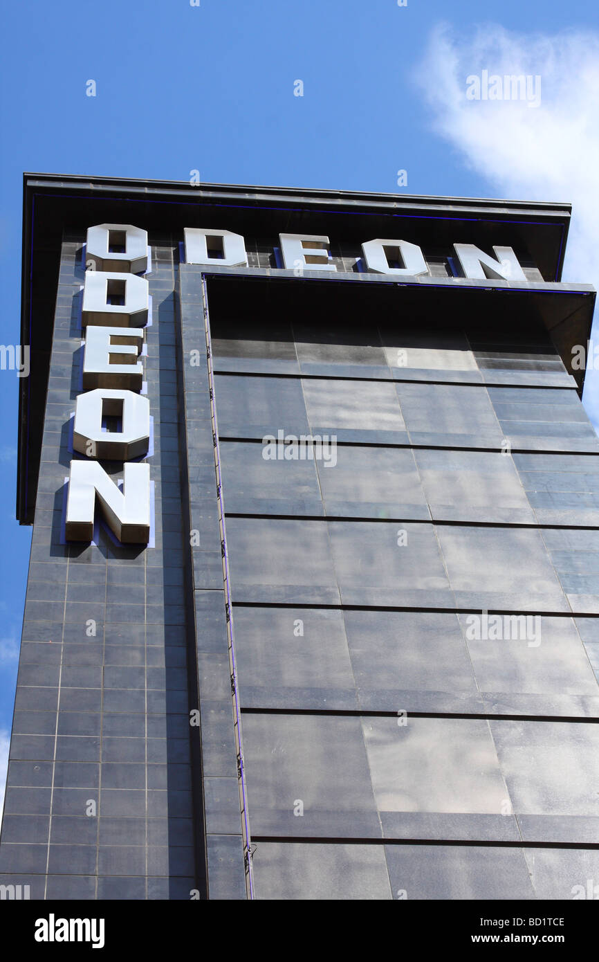 The Odeon Cinema, Leicester Square, London, England, U.K. - Stock Image