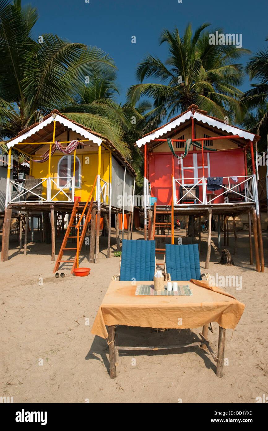 Cocohuts beach holiday bungalows on stilts agonda beach goa india
