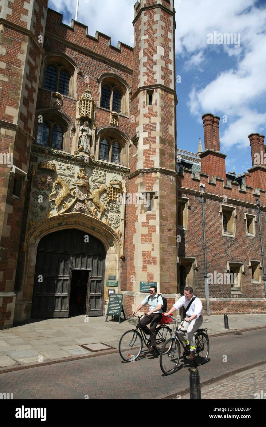 Cambridge University, St. John's College street entrance Stock Photo
