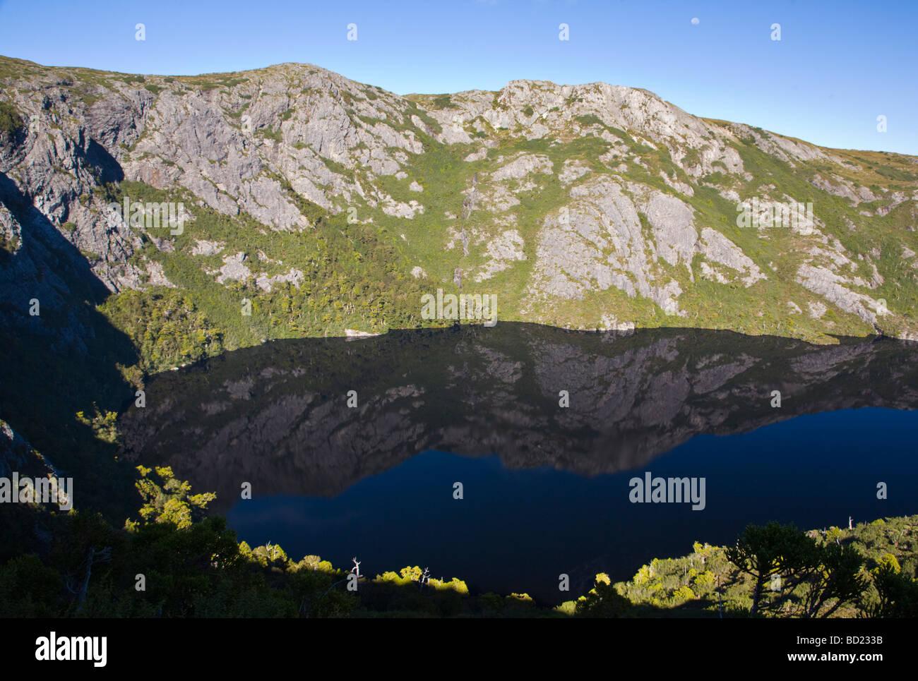 Crater Lake Cradle Mountain National Park Tasmania Australia - Stock Image