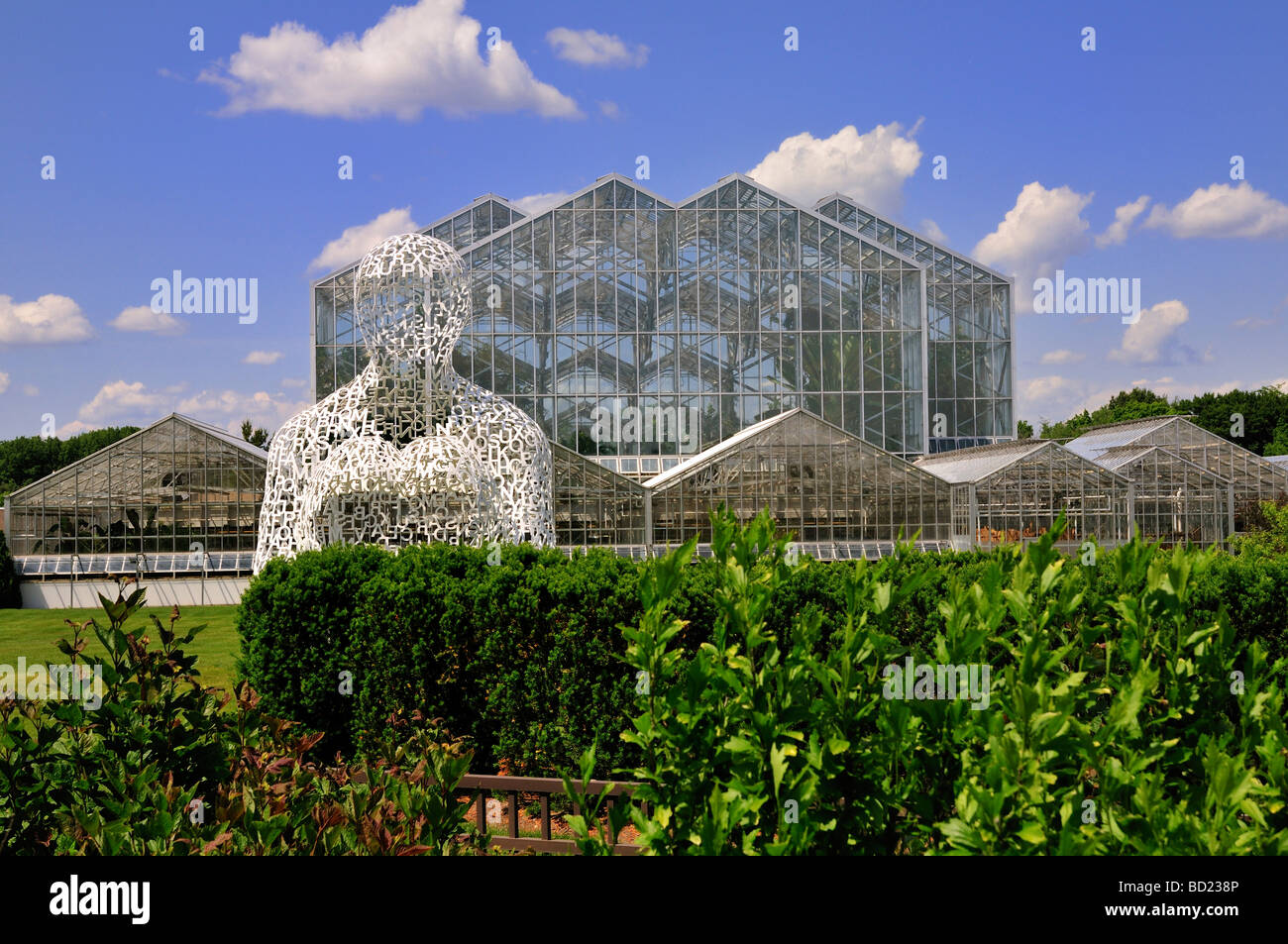 Conservatories at the Frederik Meijer Gardens and Sculpture Park - Stock Image