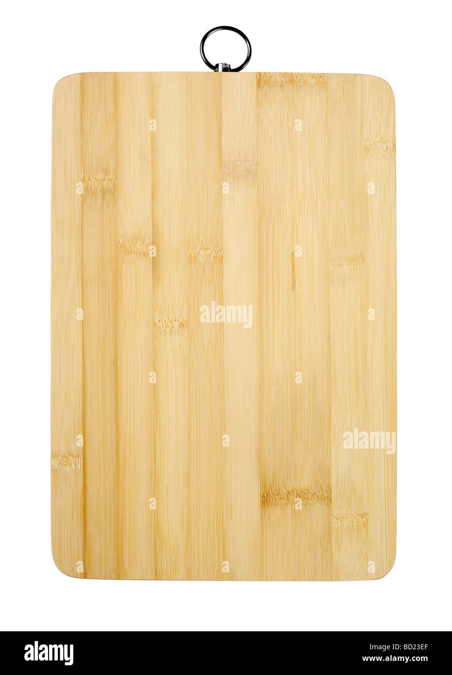 Bamboo cutting board - Stock Image