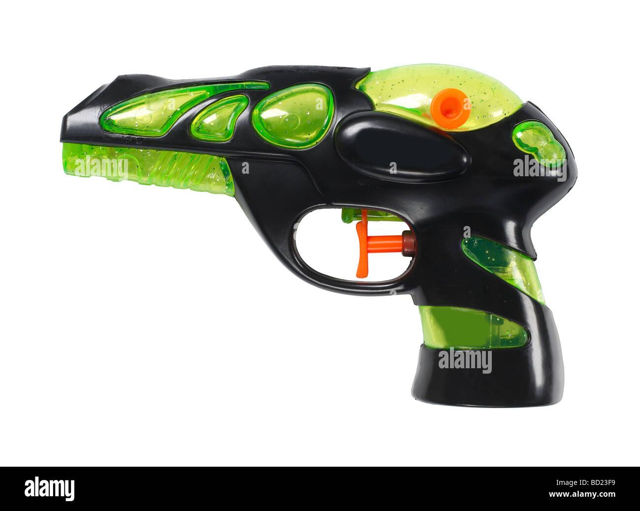 Green and black water gun - Stock Image