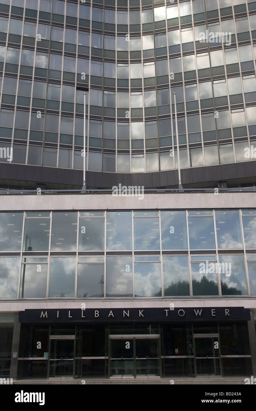 Millbank Tower, London, home to New Labour - Stock Image