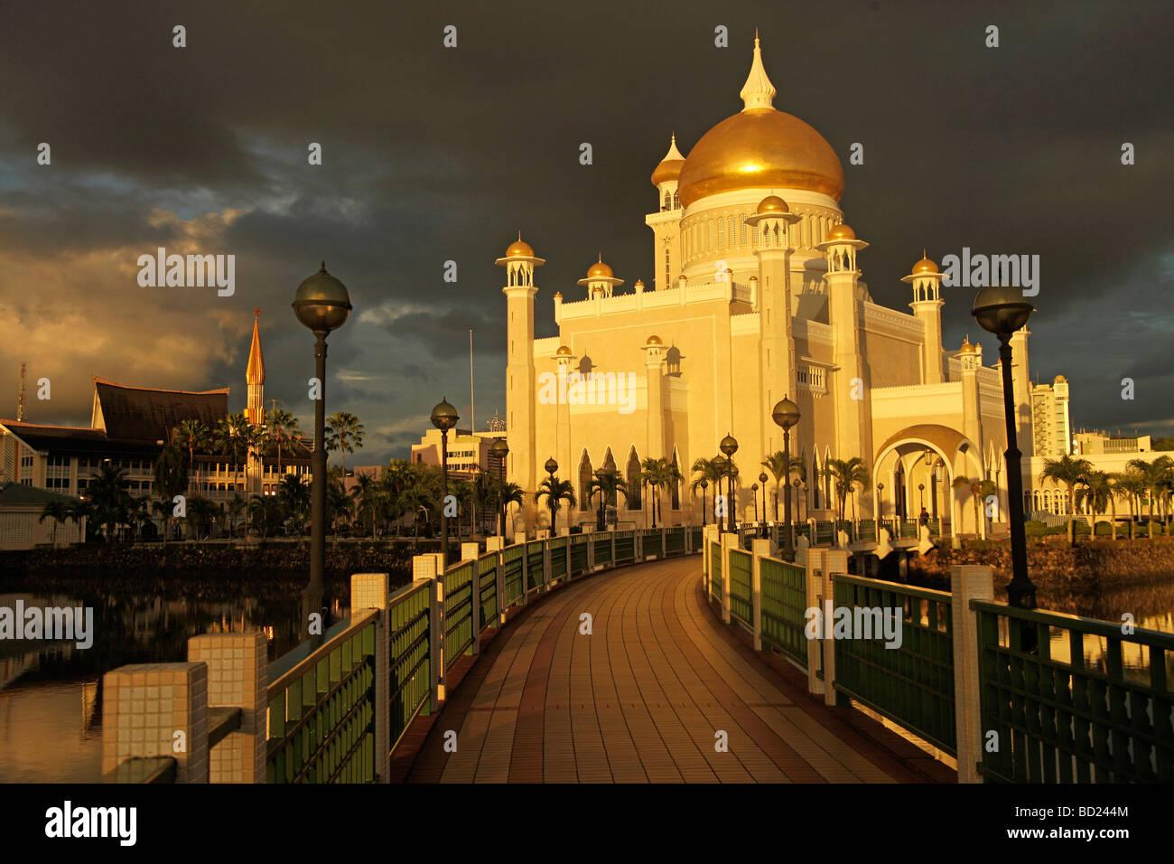 Royal Mosque of Sultan Omar Ali Saifuddin in the capital city Bandar Seri Begawan Brunei Asia - Stock Image