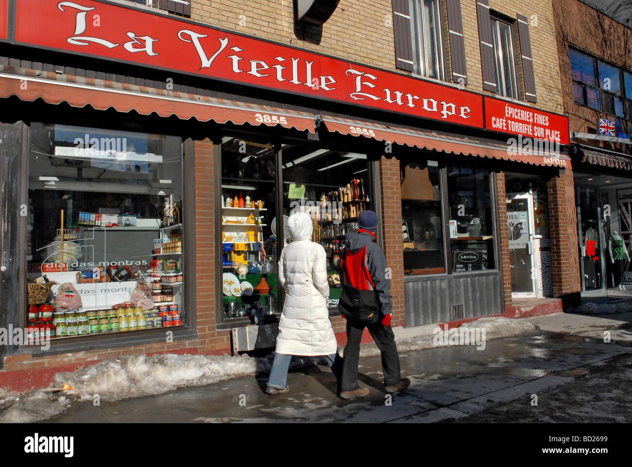Boulevard  Saint Laurent  Montreal  Canada Quebec - Stock Image