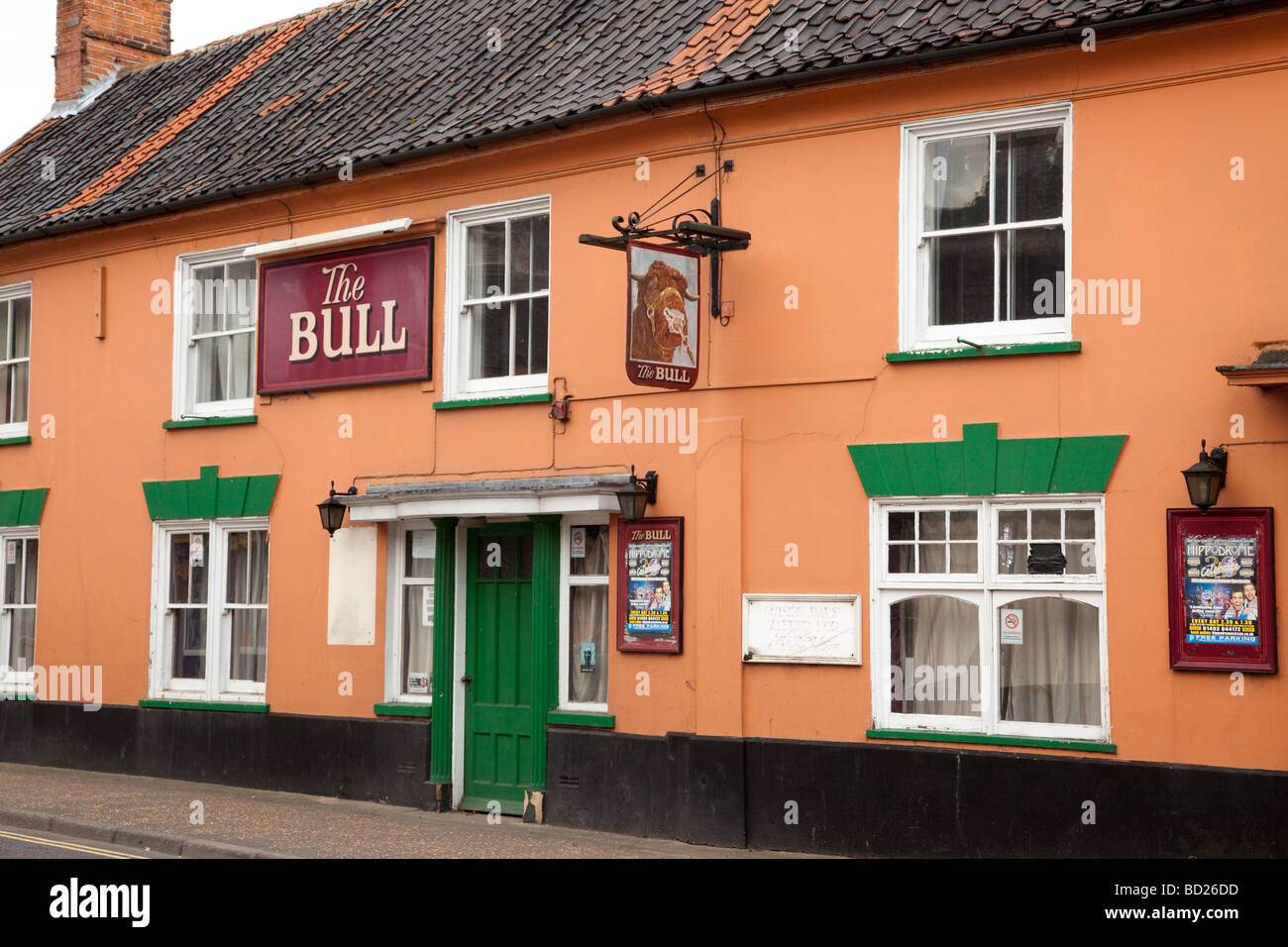 The Bull pub in Watton, Norfolk, UK - Stock Image