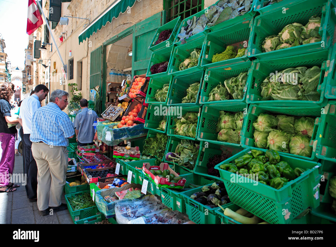 Greengrocer's Shop, Valletta,  Malta - Stock Image
