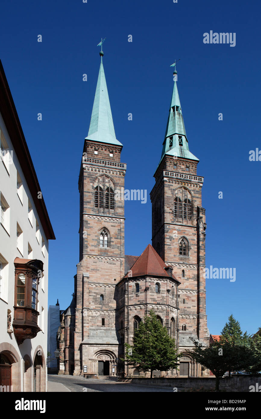 St. Sebaldus Church, Protestant, pier basilica, historic centre, Nuremberg, Middle Franconia, Franconia, Germany, - Stock Image