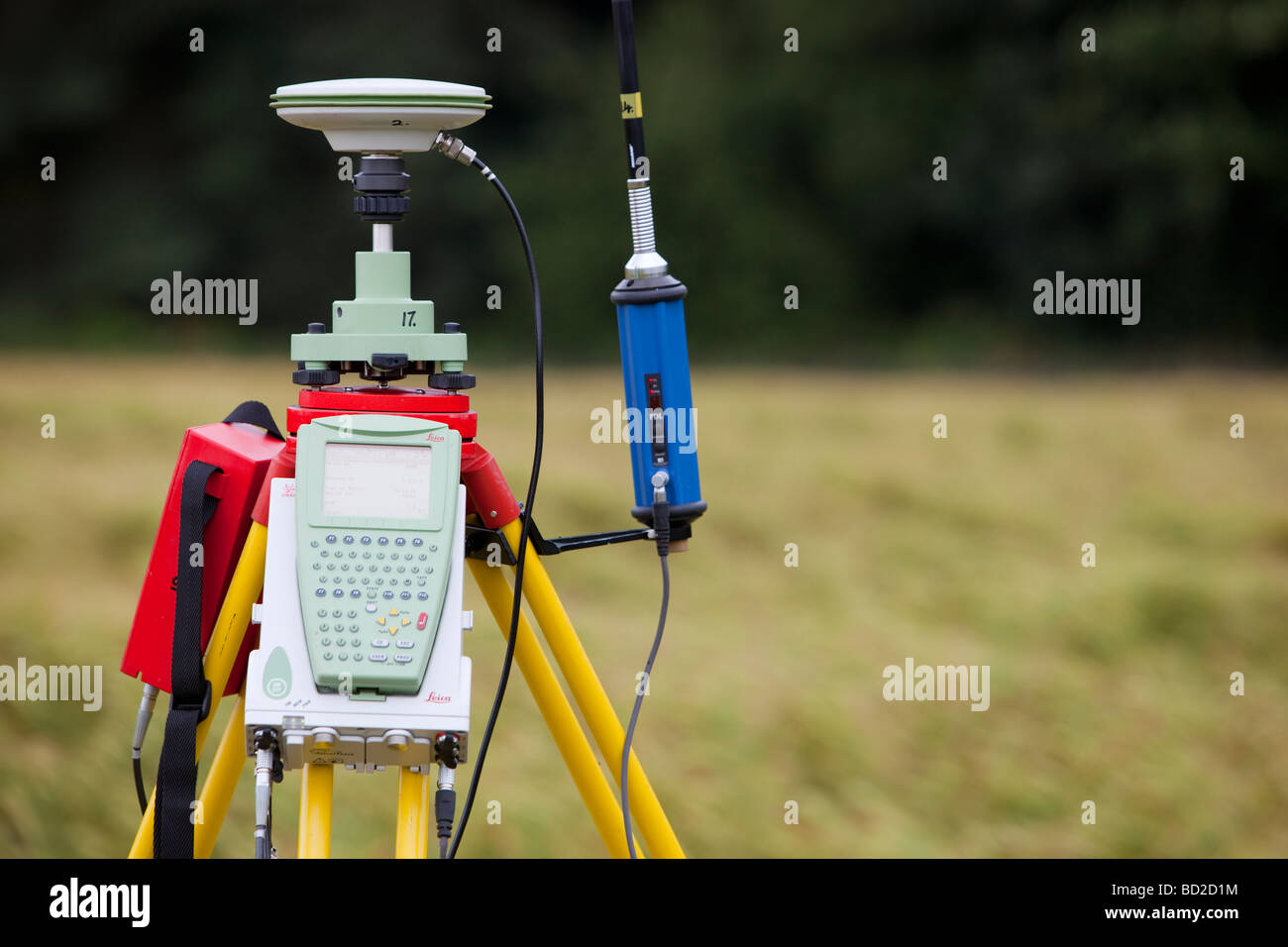 A differential GPS being used in real time kinematic survey to