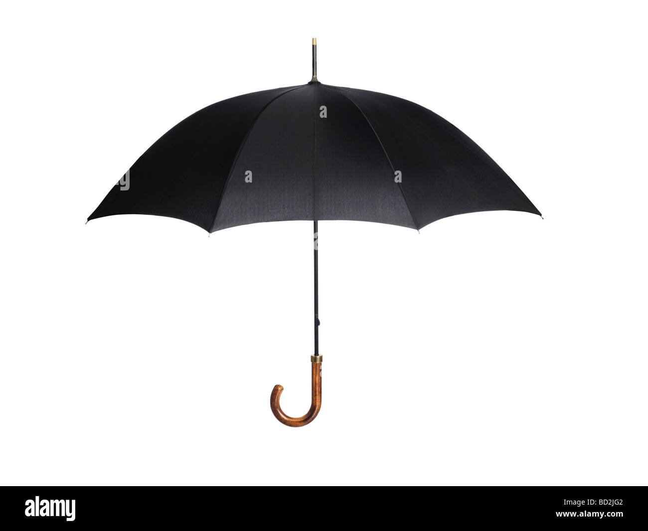 Black open Umbrella - Stock Image