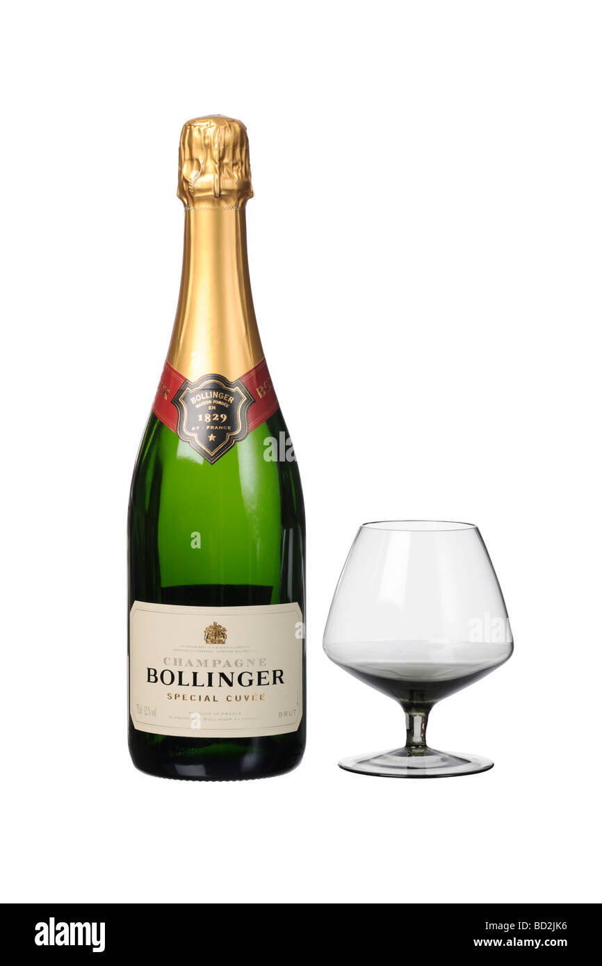 Bollinger 1829 special cuvee Champagne bottle glass Stock Photo