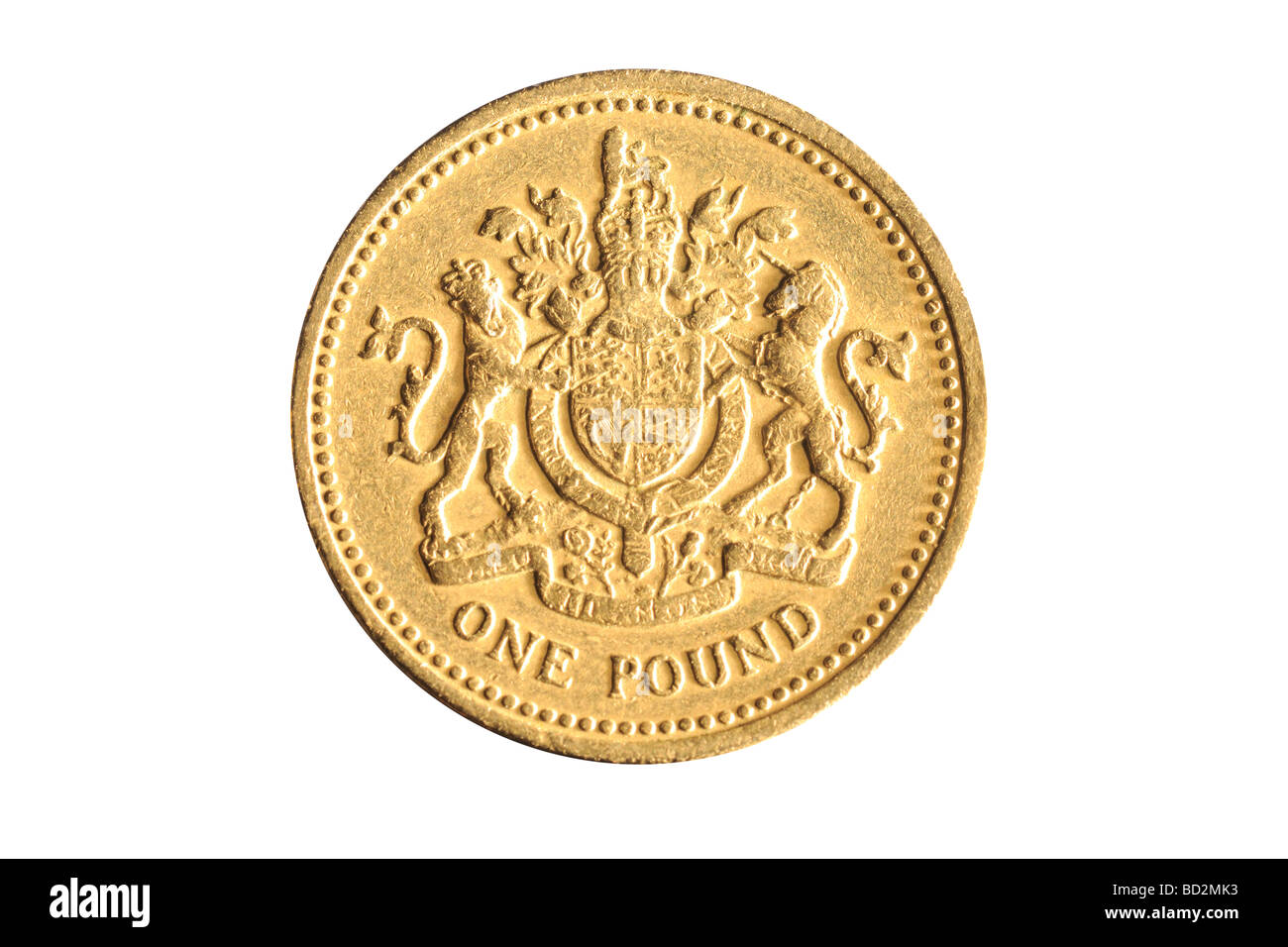 one pound coin - Stock Image