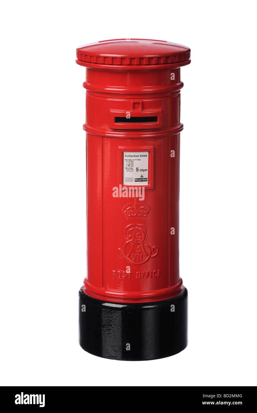 British postbox mailbox - Stock Image