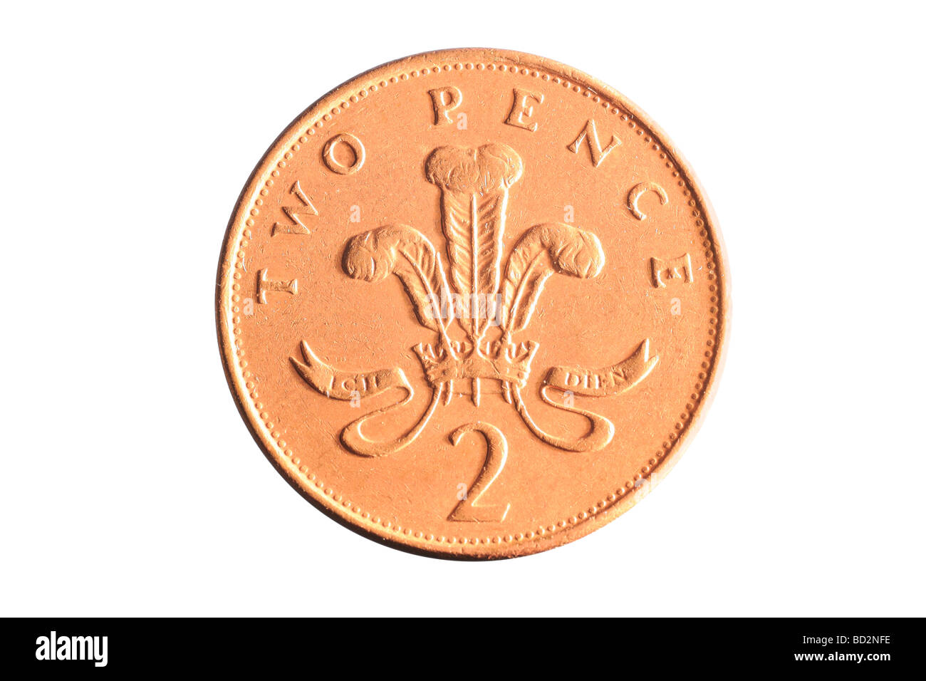 Two pence coin - Stock Image