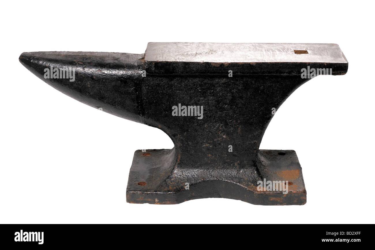 Black steel Anvil - Stock Image