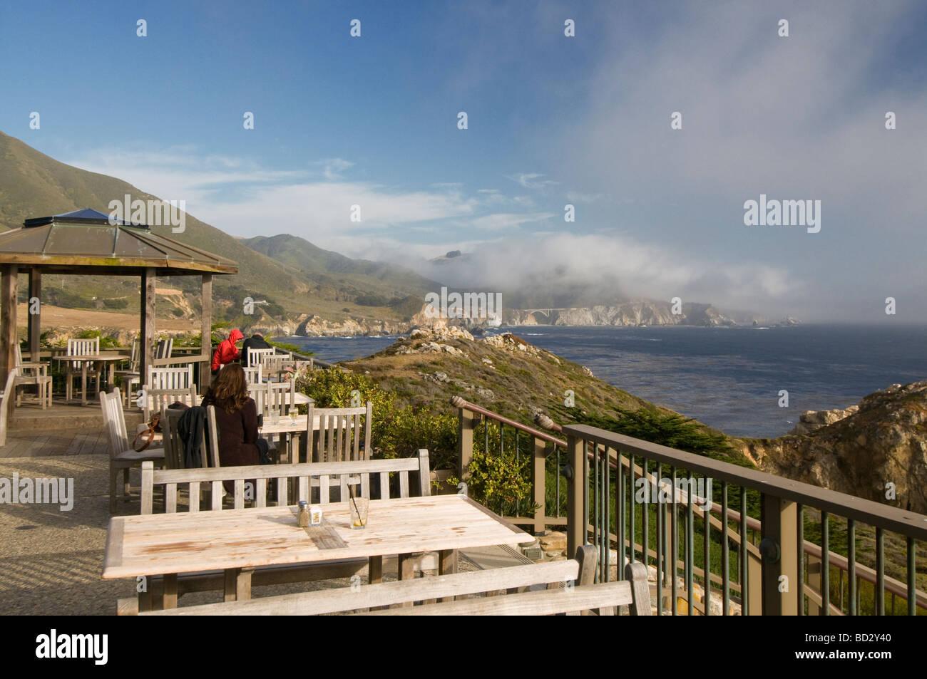 Rocky Point restaurant Big Sur California - Stock Image