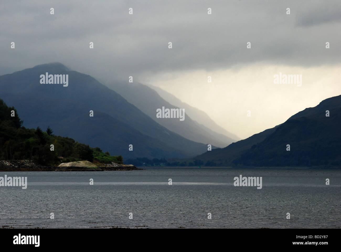Glen Tarbert, Ardgour viewed from Ballachulish, Lochaber, Scotland, UK. - Stock Image
